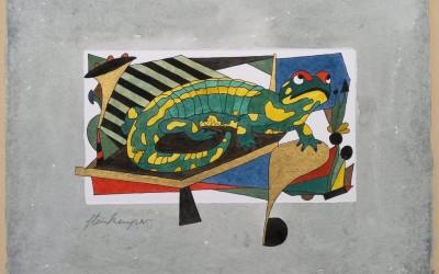 005-Phantasie-Salamander - Aquarell