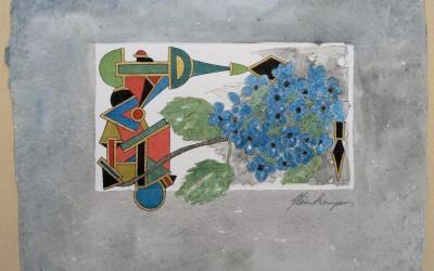010-Phantasie-Blumen - Aquarell