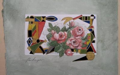 011-Phantasie-Blumen Wildrosen - Aquarell