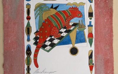 014-Phantasie-Dinosaurier - Aquarell