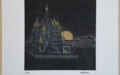 026-Mezzotinto -Moskau - Coloriert gelb