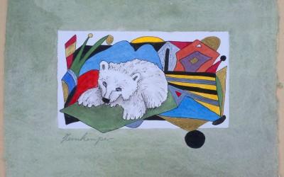 029-Weißer Bär - Aquarell