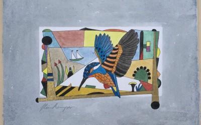 034-Bunter Kolibri - Aquarell