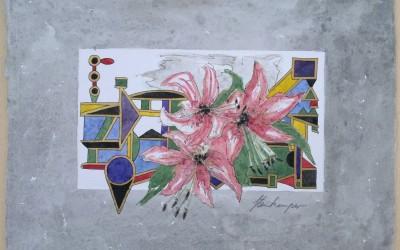 035-Bunte Blumen - Aquarell