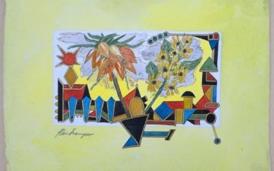 036-Bunte Blumen 2 - Aquarell