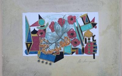 039-Phantasie-Blumen - Aquarell
