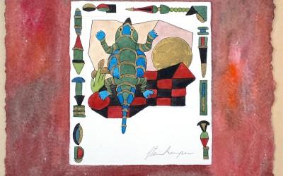 047-Phantasie dicker Lurch.mit Farbverbesserung - Aquarell