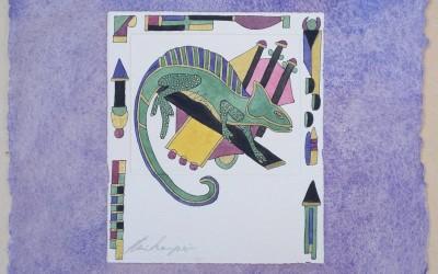 049-Phantasie Charmäleon - Aquarell