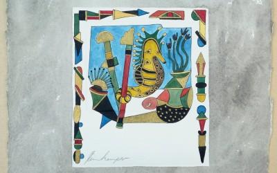 051-Phantasie Seepferd - Aquarell