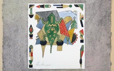 052-Phantasie Frosch - Aquarell
