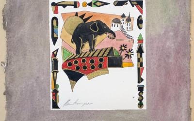 053-Phantasie Elefant - Aquarell
