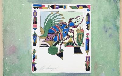 058-Phantasie Bunter Käfer -  Aquarell