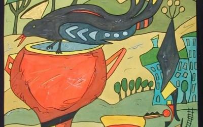Las Abubillas - Aquarelle - 2002_03_gr