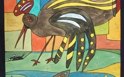 Las Abubillas - Aquarelle - 2002_08_gr