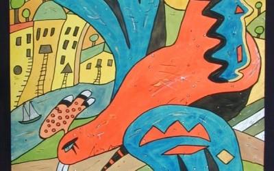 Las Abubillas - Aquarelle - 2002_09_gr