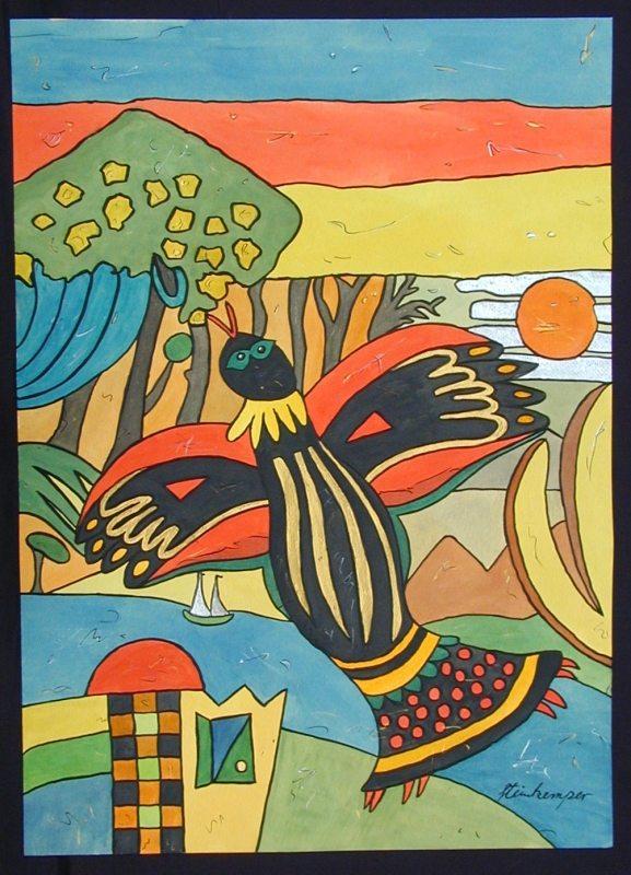 Las Abubillas - Aquarelle - 2002_12_gr