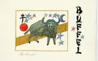 Chinesische Tiersymbole – Bueffel
