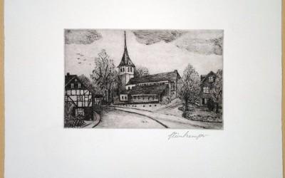 Herkenrath Bergisch Gladbach - Kaltnadelradierung