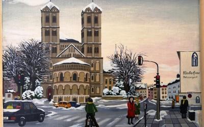Köln  St. Gereon im Winter - Öl auf Leinwand