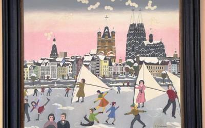 Köln Winter  - Öl auf Leinwand