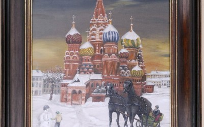 Moskau Winter Öl auf Leinwand