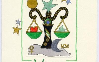 Sternzeichen - Aquarell - Waage