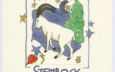 Sternzeichen - Aquarell - Steinbock