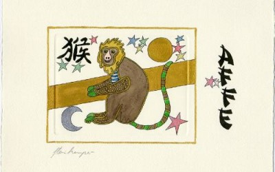 Chinesische Tiersymbole – Affe