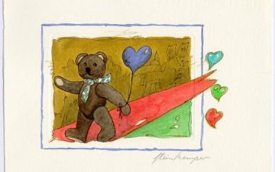 B11 Teddy Walking - Aquarell