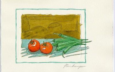 G02 Tomaten, Peperone - Aquarell