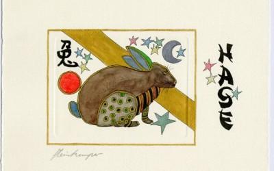 Chinesische Tiersymbole – Hase