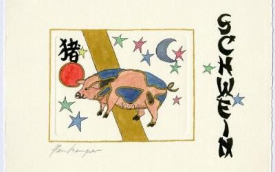 Chinesische Tiersymbole – Schwein