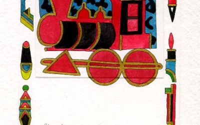 Lokomotive - Aquarell