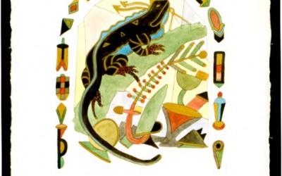 Salamander - Aquarell