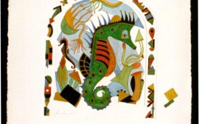 Seepferdchen - Aquarell